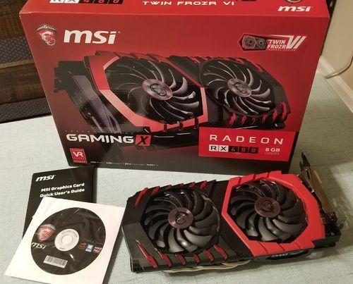 MSI Radeon RX 580 DirectX 12 RX 580 GAMING X 8G 8GB 256-Bit GDDR5 PCI  Express x16 HDCP Ready CrossFireX Support Video Card